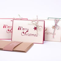 Christmas Cards Set Value Pack with matching envelopes - QTY of 8