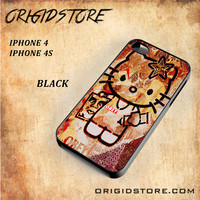 Obey Hello Kitty For Iphone 4/4S Snap On and 3D Case