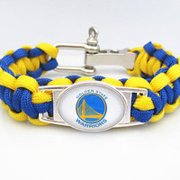 NBA Paracord Bracelet Golden State Warriors Team Sport Fan Wristband Basketball Bracelets