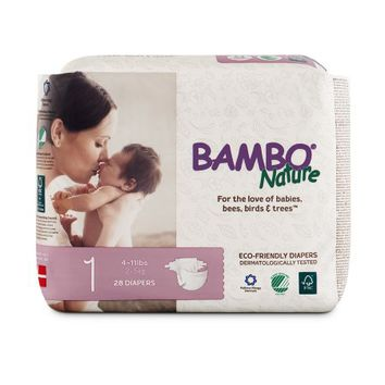 Bambo Nature Premium Baby Diapers (Choose Size and Count) - Walmart.com