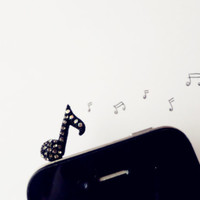 SALE 80-20%OFF Cute Music note - IPhone & earphone dust plug - Smart Phone Dust Stopper Earphone Cap Headphone Jack