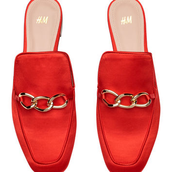 Slip-on loafers - Bright red - Ladies | H&M GB
