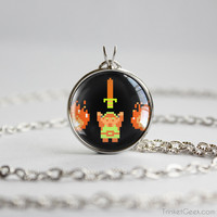 Zelda pendant retro Link it's dangerous pendant