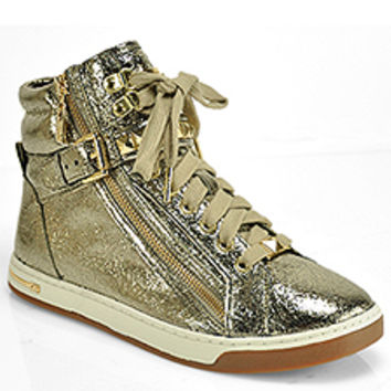 Michael by Michael Kors - Glam Studded - Champagne High Top Sneaker at Footnotesonline Women's Designer Shoes
