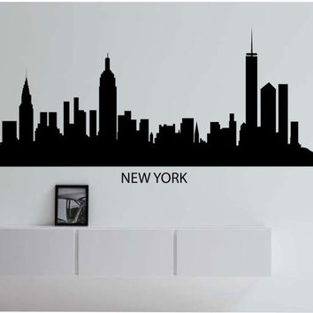 Beautiful Large New York Skyline City Vinyl Wall Decal Sticker Art Decor Bedroom  Design Mural City Modern Part 31