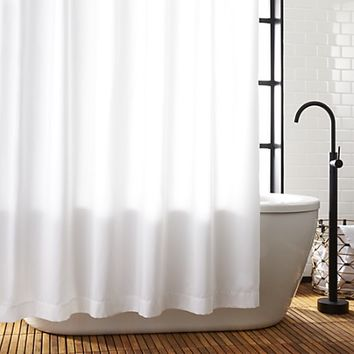 poly white shower curtain liner