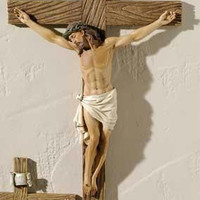 4 Wall Crucifixes - Hand Painted