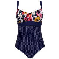 One Piece Summer Print Floral Dot  Plus Size Swimsuit bathingsuit