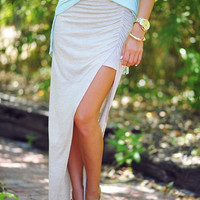 Keep It Chill Skirt: Sand | Hope's