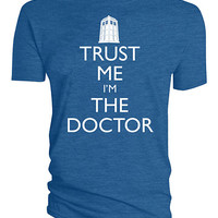 Trust Me I'm The Doctor T-Shirt - Blue,