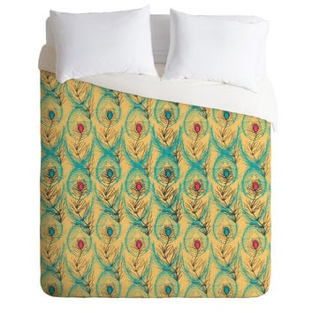 Njeri Designs Twisting Feathers Duvet Cover