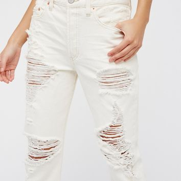 Free People Destroyed Boyfriend Jeans