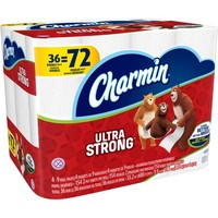 Charmin Ultra Strong Toilet Paper Double Rolls, 154 sheets, 36 rolls - Walmart.com