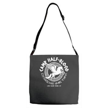 camp half blood long island Adjustable Strap Totes