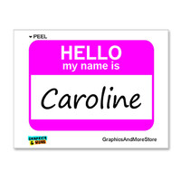 Caroline Hello My Name Is Sticker