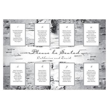 Seating Chart Kit with Birch Bark Design (Pack of 1)