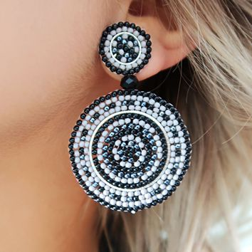 Just Have Fun Earrings: Black/Multi