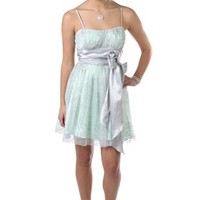 glitter mesh peasant style party dress with fit and flare a line skirt