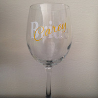 BRIDE wine glass with name