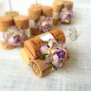 Rustic Wedding Table Number Holders, Available in Dozens of Custom Colors, Rustic Vineyard Wedding Decor