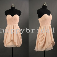 Short Orange Pink Bridesmaid Dresses Lovely Sweetheart Bridesmaid Dress Party Dresses Homecoming Dresses