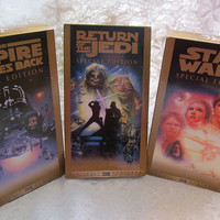 Special Edition Star Wars Trilogy VHS Movies Set of 3