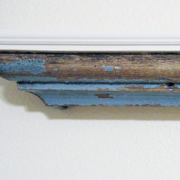 New Orleans Reclaimed Wood Shelf Blue Over by restorationharbor