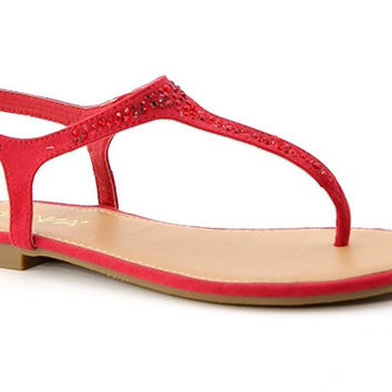 Red Rhinestone Sandals