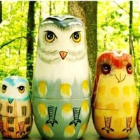 "Owls Nesting Dolls 5-1/2"" India Fast Shipping"