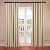 Half Price Drapes BOCH-120601-96-DW Stone 96 x 100-Inch Double Wide Blackout Curtain Single Panel