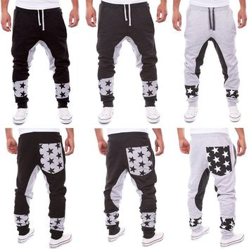Men's Jogger Dance Sportwear Baggy Casual Pants Trousers Sweatpants Cool