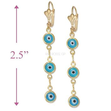 Evil Eye Earrings 18Kts Gold Plated