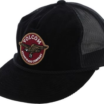 Volcom Stone Carrier Cheese Trucker Hat - black - Free Shipping