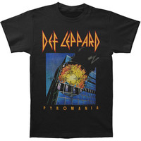 Def Leppard Men's  Pyromania Cover Slim Fit T-shirt Black