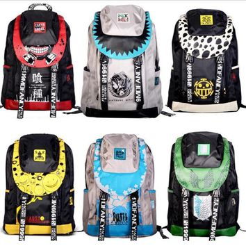 Cool Attack on Titan Anime One Piece Luo Logo Assassination Classroom  NARUTO Peripheral Backpack Student Bag Leisure Travel Backpack AT_90_11