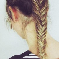 — fishtail braid
