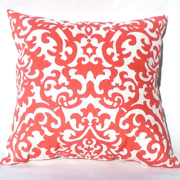 Coral Throw Pillow, Dorm Decor, 14x14 – Pillow insert included