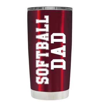 TREK Dad SoftBall on Translucent Red 20 oz Tumbler Cup