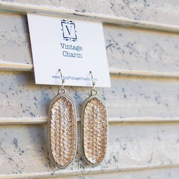 Crystal Two Tone Holiday Earring
