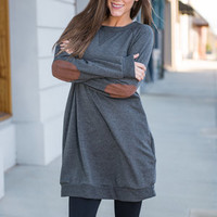 Kickin' It Casual Tunic, Charcoal