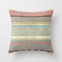 Patternwork IX Throw Pillow by Metron