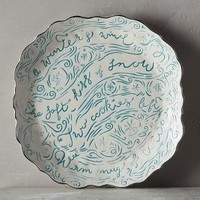 Winter's Eve Dinner Plate by Anthropologie