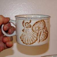 8 Stoneware Seashell Cups by Midwinter Stonehenge