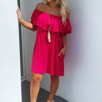 Simple As That Dress: Hot Pink