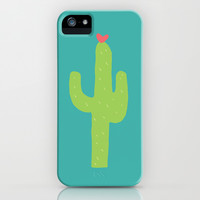 Valentine Homegrown Love Cactus Pattern iPhone & iPod Case by Two if by Sea Studios