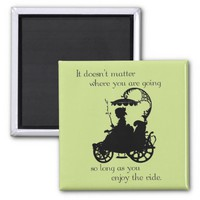 Enjoy the Ride 2 Inch Square Magnet