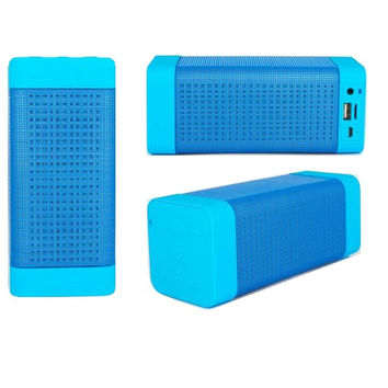 Wireless Bluetooth Speaker with Colorful LED Light Disc Dancing Blue