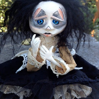 Sad Art Doll OOAK Agatha