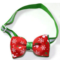 Dog Cat Pet Bow Tie Adjustable Necktie Collar Clothes Bow tie