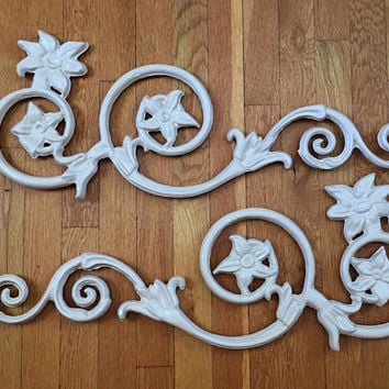 PAIR Architectural Salvage, Cast Iron Scrolls, Cast Iron Scrollwork, Cast Iron Wall Decor, Cast Iron Wall Hanging,